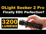 Olight Seeker 2 Pro - 3200 Lumen Magnetic Rechargeable LED Torch with L-Dock Charging Hub