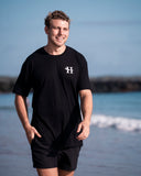 Heads of Noosa Stacked Tee | Black