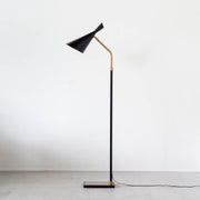 Black × Gold Nostalgic Floor Lamp