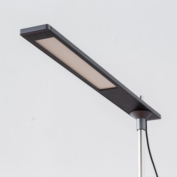 Gray × Plate Slim Desk Lamp