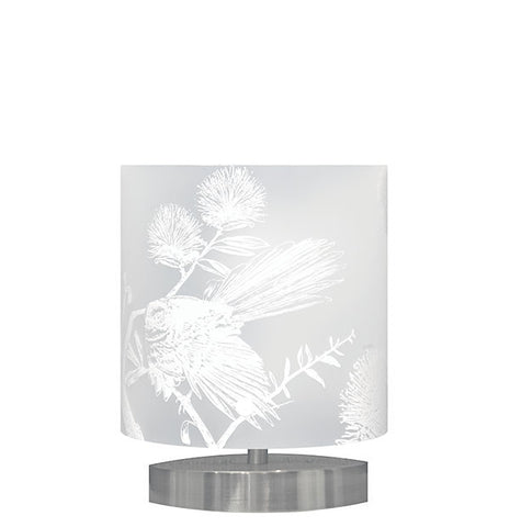 Small Piwakawaka, Fantail Table Lamp White Silhouette