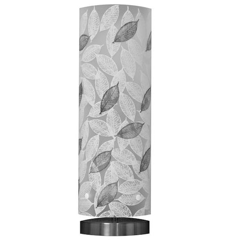 Tall Mahoe Leaf Table Lamp Black and White Silhouette - Zamm Lights