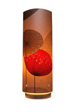 Dandelion Clocks Designer Wallpaper Lamp, Red Colour Way - Zamm Lights
