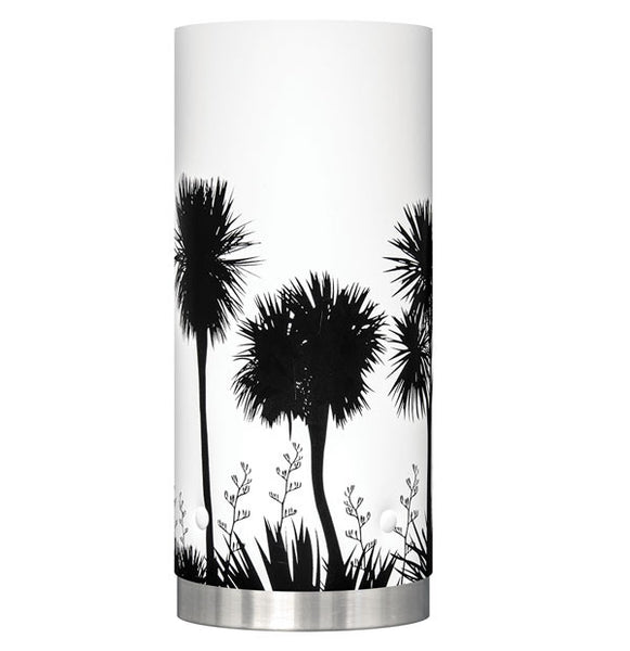 Medium Tī kōuka, Cabbage Tree Table Lamp, Black Silhouette