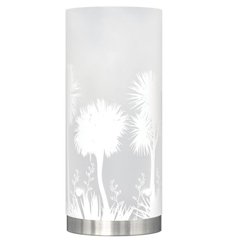 Medium Tī kōuka, Cabbage Tree, Table Lamp, White Silhouette