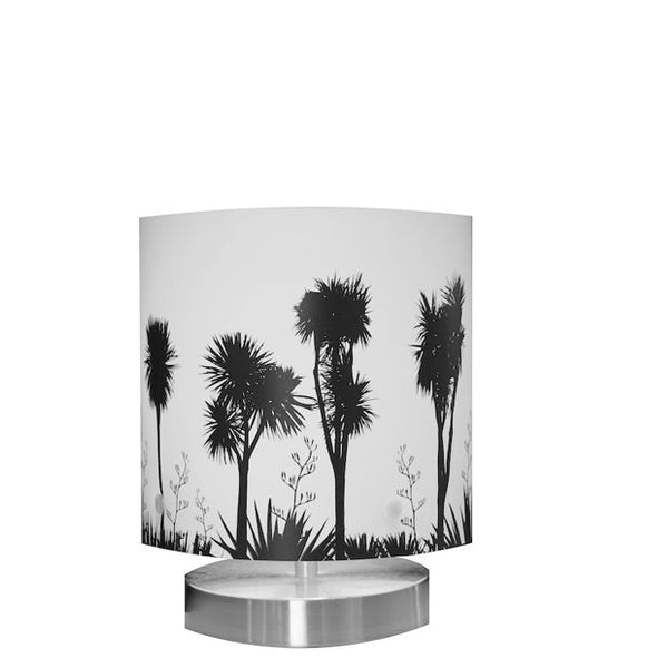 Small Tī kōuka, Cabbage Tree, Table Lamp Black Silhouette