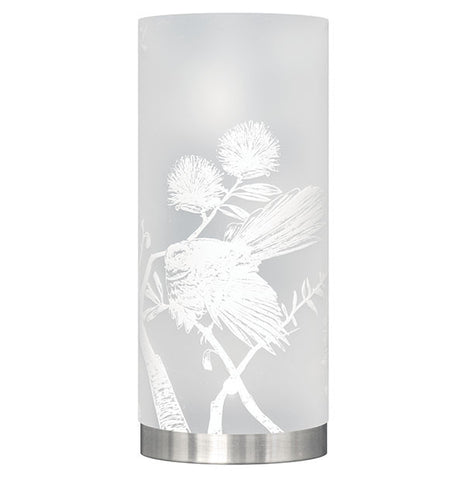 Medium Piwakawaka, Fantail Table Lamp, White Silhouette