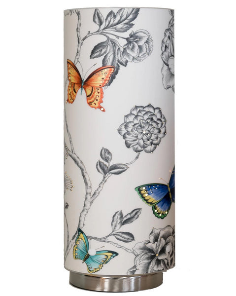 Yellow and Blue Butterfly Stylised Designer Wallpaper Lamp