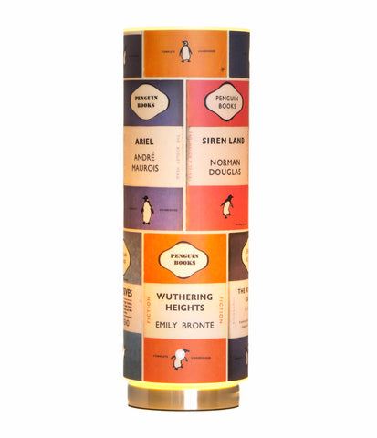 The Penguin Library designer wallpaper lamp