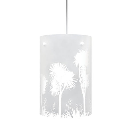 Tī kōuka, Cabbage Tree Shades White Silhouette - Zamm Lights