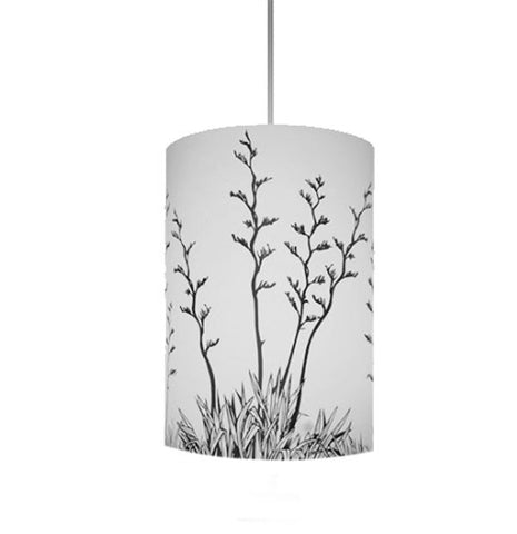Harakeke, NZ Flax Shades, Black Silhouette - Zamm Lights