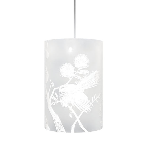 Piwakawaka, Fantail Shades, White Silhouette - Zamm Lights