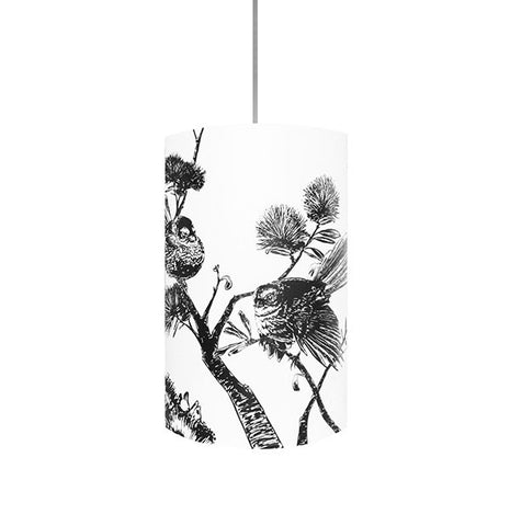 Piwakawaka, Fantail Shades, Black Silhouette - Zamm Lights