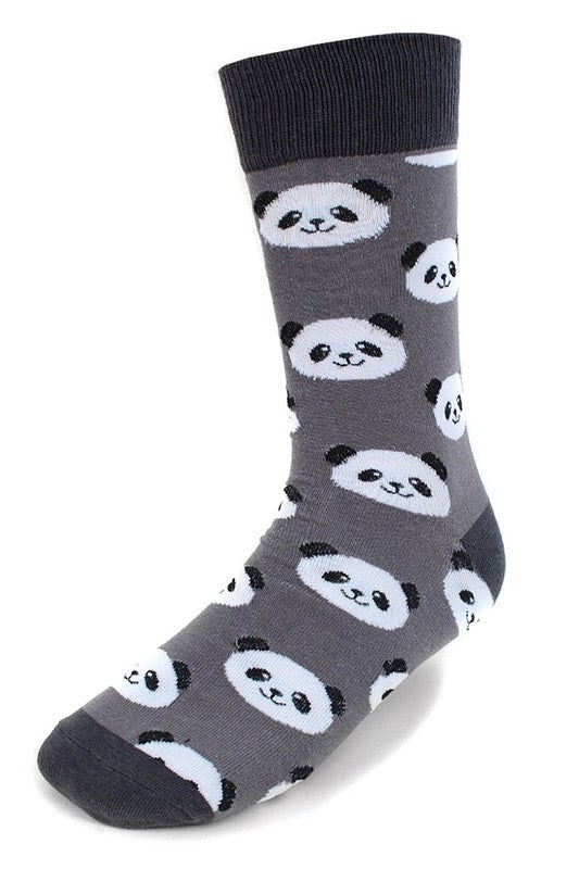 Panda Print Men's Novelty Socks