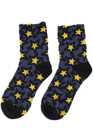 Textured Star Anklets Socks