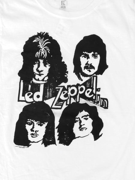 Zeppelin Heads Sketch Logo Print Junior's Tee