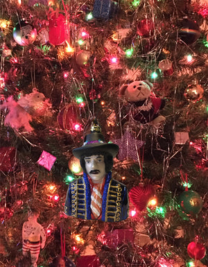 Jimi Hendrix Glass Ornament