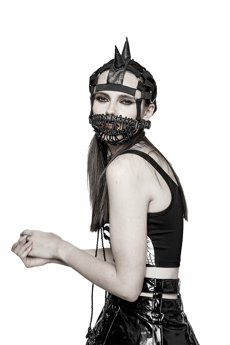 Punk Beanie Hat With Masks