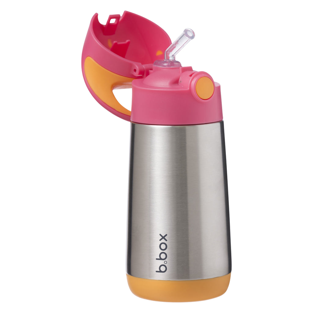 insulated drink bottle - strawberry shake - b.box for kids