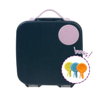 *new* lunchbox - indigo rose - PRE ORDER