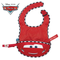 Disney - Lightning McQueen travel bib + flexible spoon (selected regions only) - b.box for kids