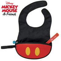 Disney - Mickey Mouse travel bib + flexible spoon (selected regions only) - b.box for kids