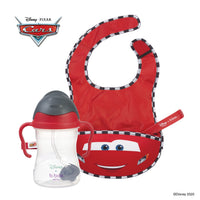 Disney - Lightning McQueen sippy cup and travel bib + spoon bundle (selected regions only)