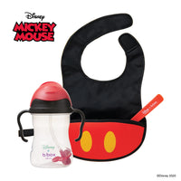 Disney - Mickey Mouse sippy cup and travel bib + spoon bundle (selected regions only)