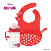 Disney - Minnie Mouse sippy cup and travel bib + spoon bundle (selected regions only)