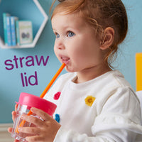 Silicone Lids Travel Pack - strawberry shake