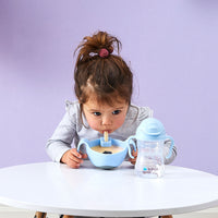 Bowl + straw - bubblegum - b.box for kids