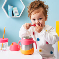 insulated food jar - strawberry shake - b.box for kids