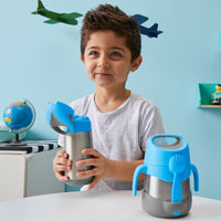 insulated food jar - blue slate - b.box for kids