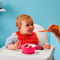 silicone first feeding set - strawberry shake - b.box for kids