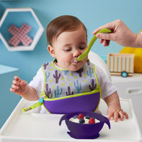 silicone first feeding set - passion splash - b.box for kids