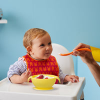 silicone first feeding set - lemon sherbet - b.box for kids
