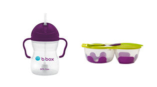 sippy cup + snack pack combo - grape
