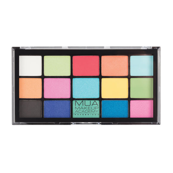MUA Pro 15 Shade Eyeshadow Palette - Colour Burst
