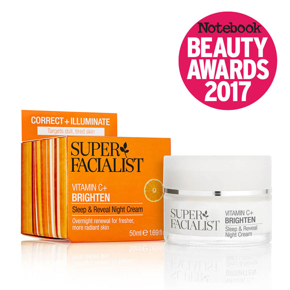 Superfacialist vitamin c sleep & reveal night cream