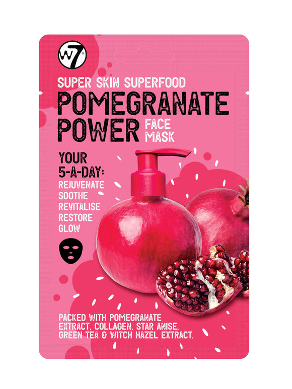 w7 Super Skin Superfood Face Mask - Pomegranate Power