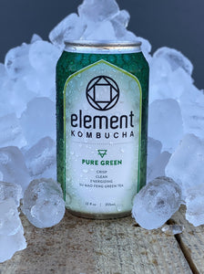 PURE GREEN TEA KOMBUCHA case of 6/12oz cans