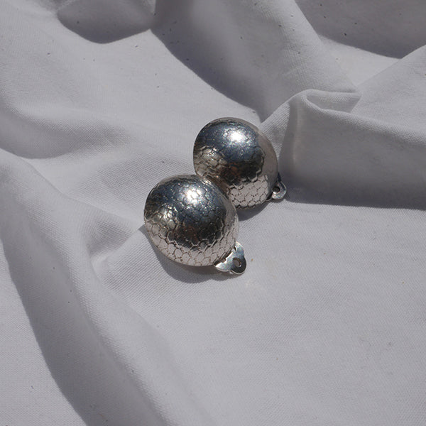 Earrings Textured domes 2