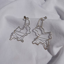 Load image into Gallery viewer, Abstract Silver Earrings