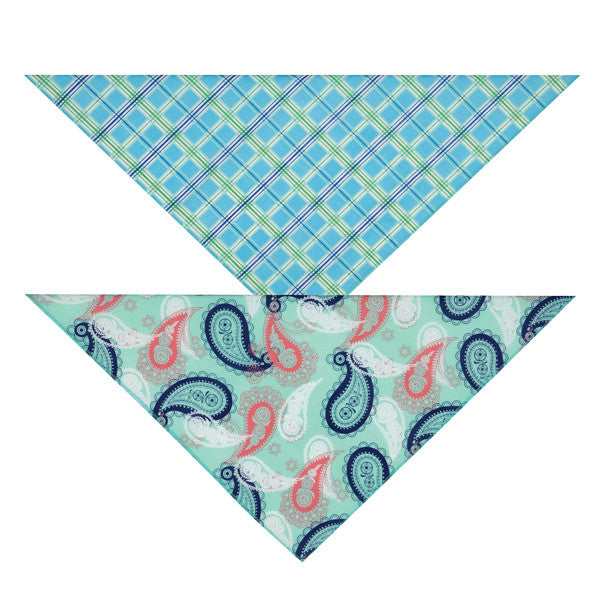 Aria Fresh Water Tropical Dog Bandanas (2 pack)