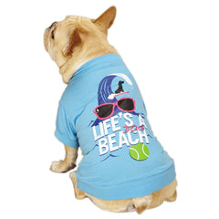 "Casual Canine ""Life's a Dog Beach"" T-Shirt"