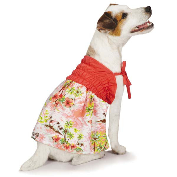 Casual Canine Hawaiian Breeze Dress | Tropical Dog Apparel