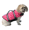 Paws Aboard Pink Polka Dot Doggy Life Jacket