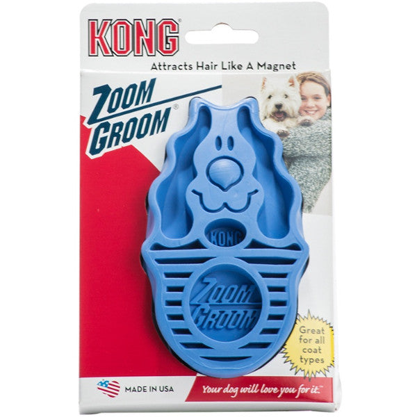 Kong Zoom Groom Massage Brush for Dogs