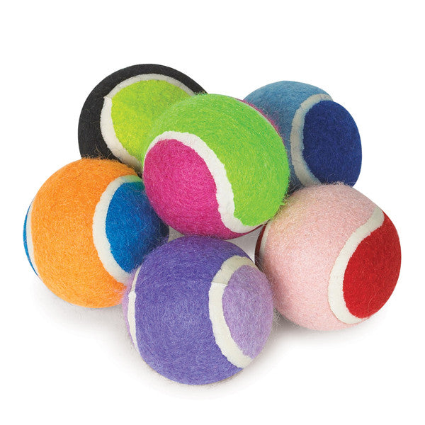 Colorful Zanies Tennis Ball Minis (6-pack)
