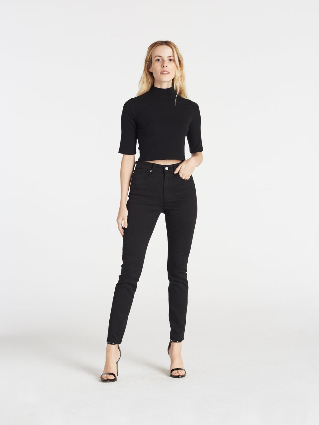 CQY Palme - Black  ⇪HIGH RISE SKINNY